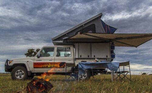 Toyota Landcruiser Double Cab V8 (Group LC Camper - Safari Camper - Camping 2 Pax)